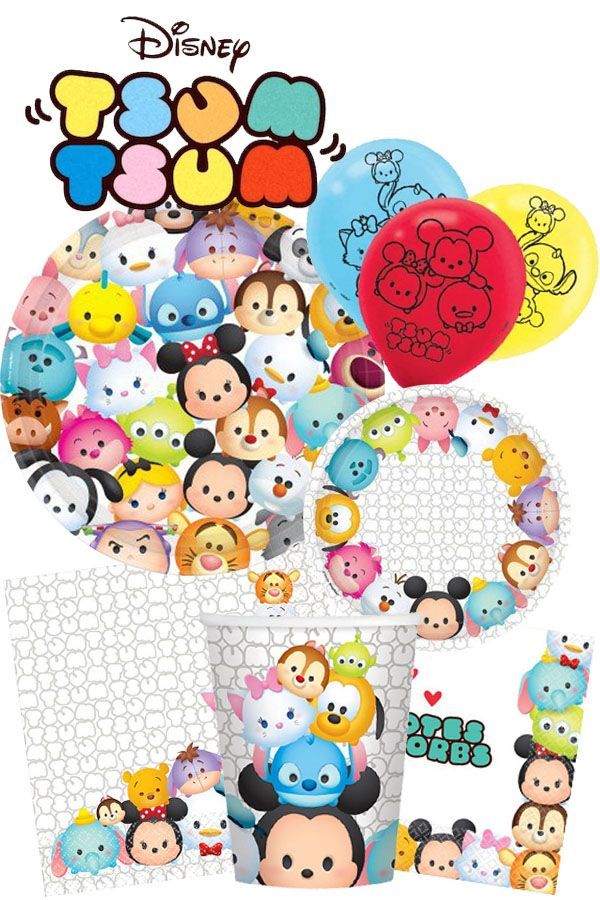 Check hardtofindpartysupplies.com to see our entire line of Tsum Tsum supplies! #tsumtsum #partyplanning