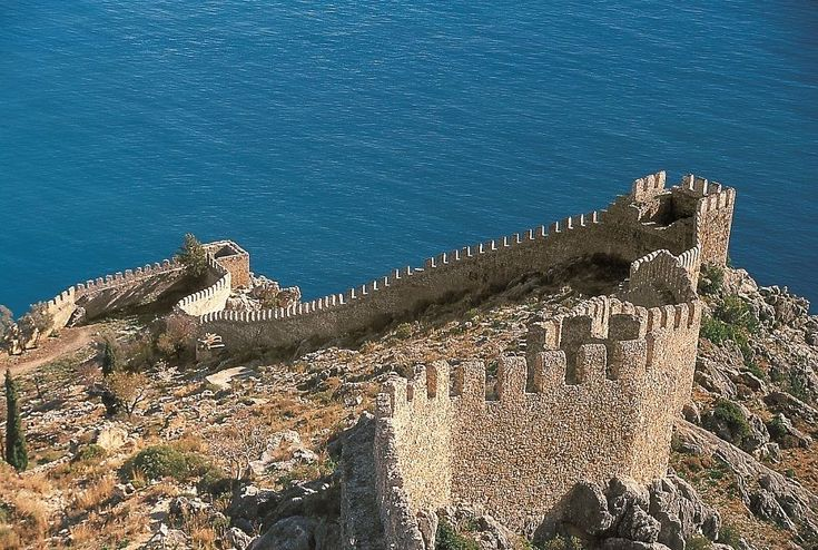 Alanya Castle was built in the 13th century, following the city's conquest in 1221 by the Seljuk Sultan Alaaddin Keykubat I. Prior to the conquest, the city was known as Kalonoros. The Sultan promptly renamed it Alaiye, in honour of himself, and made it his winter capital and Mediterranean naval base.