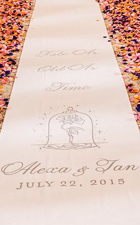 Ceremony Decor: Custom Aisle Runners Ever After Blog | Disney Fairy Tale Weddings and Honeymoon