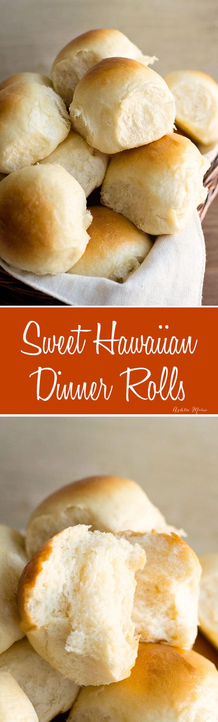 these slightly sweet dinner rolls are always gone first no matter how big of a batch you make - they are a copycat recipe of the kings hawaiian rolls and they are so easy to