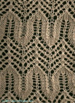 Knitting Horseshoe Lace Stitch Pattern : 77 best images about Horseshoe Lace and similar on Pinterest Lace knitting ...