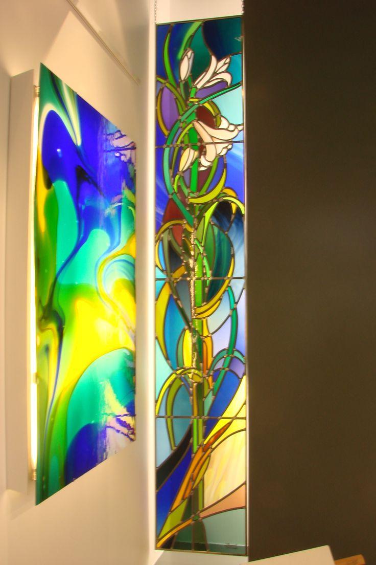Lelies en ichttafel... een oase aan kleur en licht.