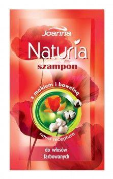 Saszetka z szamponem makowo-bawełnianym Naturia przyda się, jeśli masz farbowane włosy, o które musisz zadbać, a nie masz miejsca w swoim bagażu na dodatkowe butelki z kosmetykami.