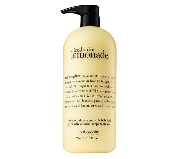 Philosophy Super Size 32 Oz Summer Favorites Shower Gel Page 1 Qvc Com Philosophy Shower Gel Shower Gel Mint Lemonade