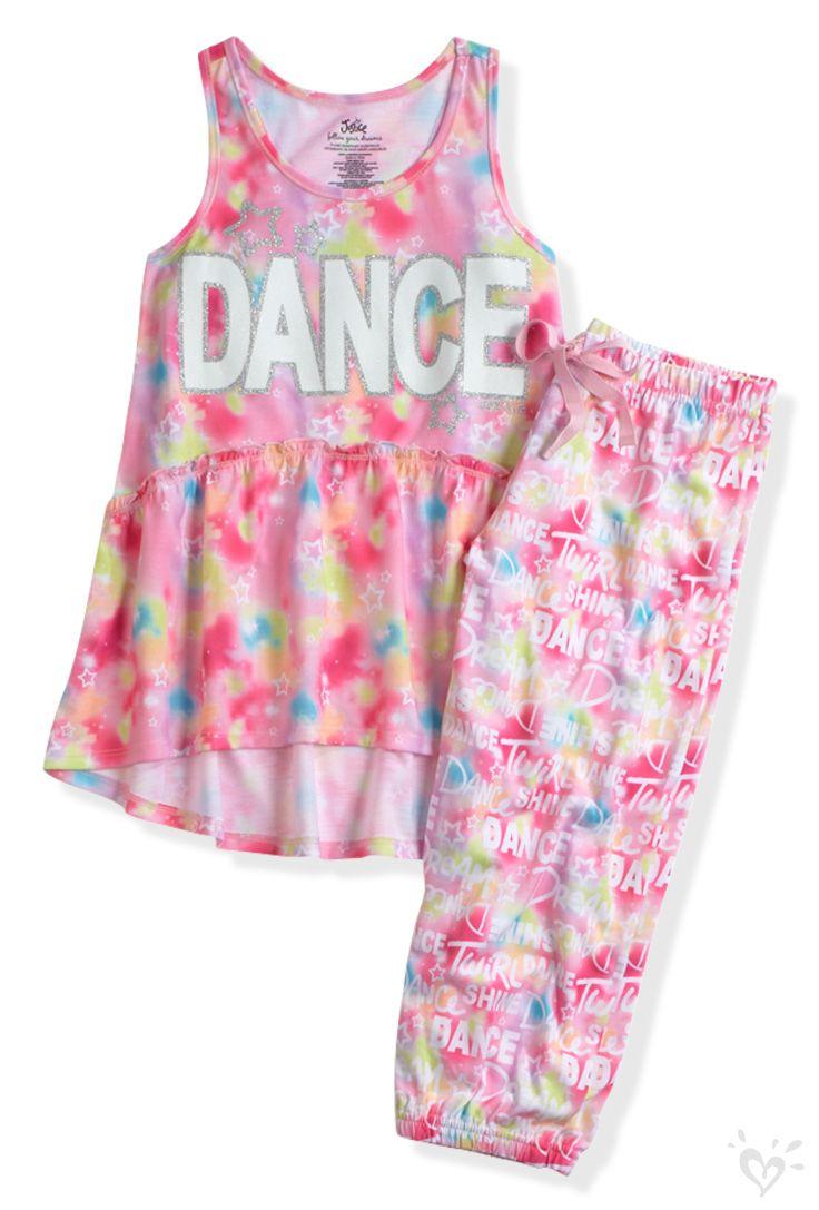 Tie Dye Dance Pajama Set   Justice