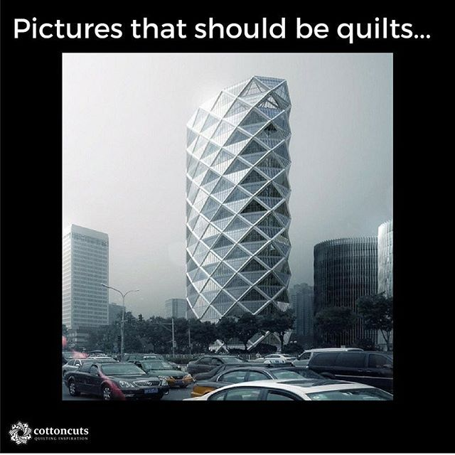 This week, we were inspired by the Poly International Plaza in Beijing China.  This building was completed last year and the unique design offers a light filled interior space. We like the diamond/triangle/matrix design on the exterior. How would you make a quilt like this? How could you incorporate it into ...