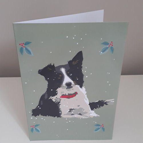 Border Collie Christmas Card Dog Gifts Christmas Cards Collie