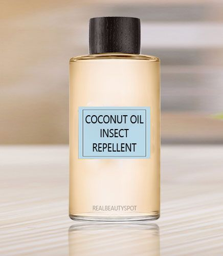 Coconut oil insect and mosquito repellent