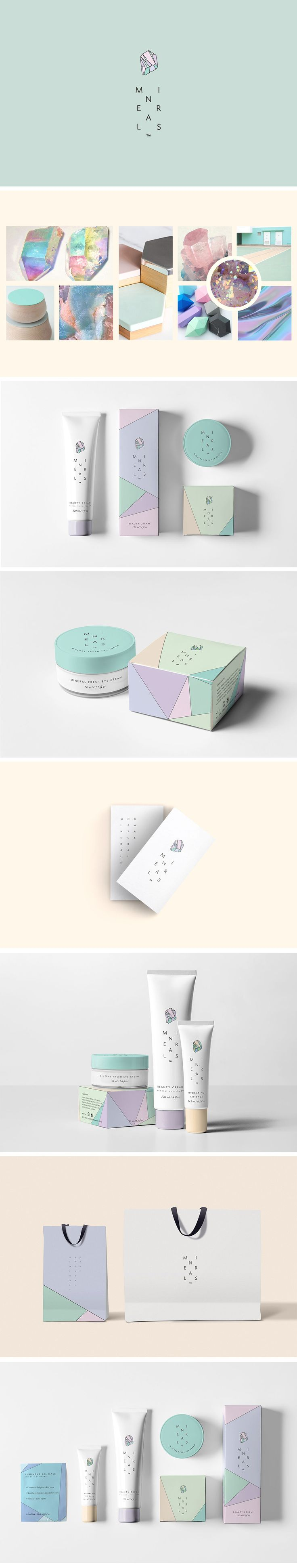 Inspirational Bunch: A Bunch of Beauty Products Branding - Elumina / Branding / Packaging / Ideas / Inspiratoin / Brand / Pack / Design / Minimalist / Minimal / Beauty / Product / Skincare / Cosmetic / Pastel / Color Palette / Feminine / Cute / Soothing / Modern / Clean