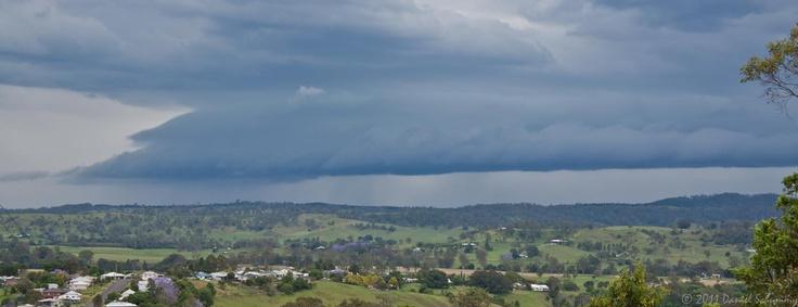 Storm in Kyogle, NSW, Australia.