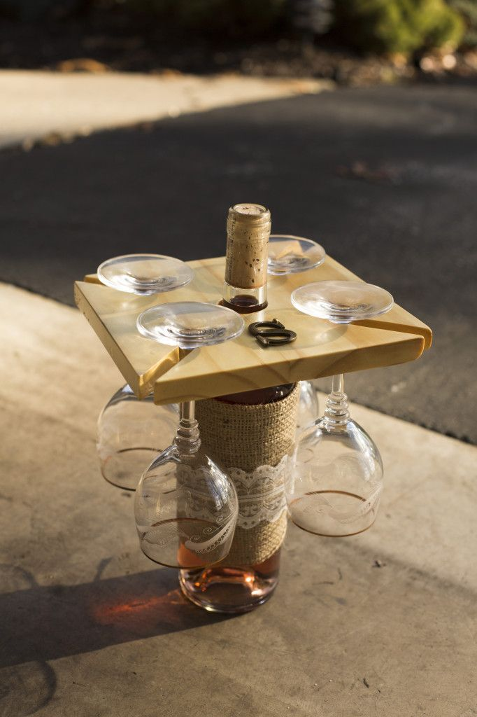 Make your own wooden wine glasses holder