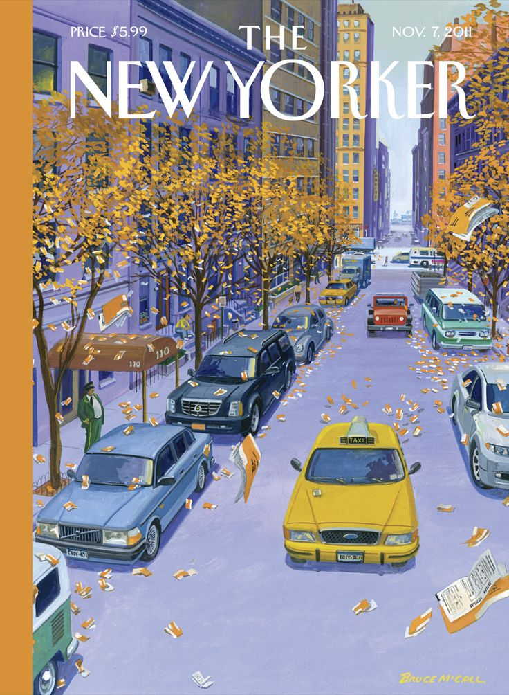 """The New Yorker - Monday, November 7, 2011 - Issue # 4426 - Vol. 87 - N° 35 - Cover """"Open Season"""" by Bruce McCall"""