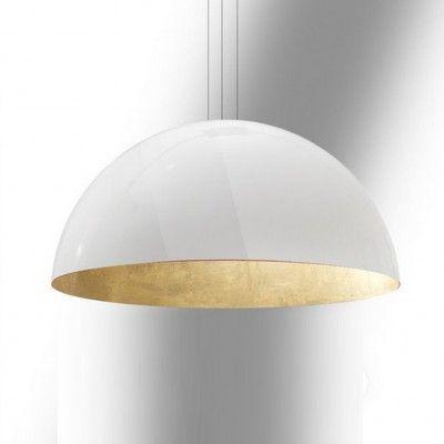 Grote witte koepel hanglamp, acrylaat
