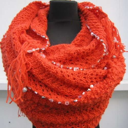 Pattern number 58 knitted shawl 1