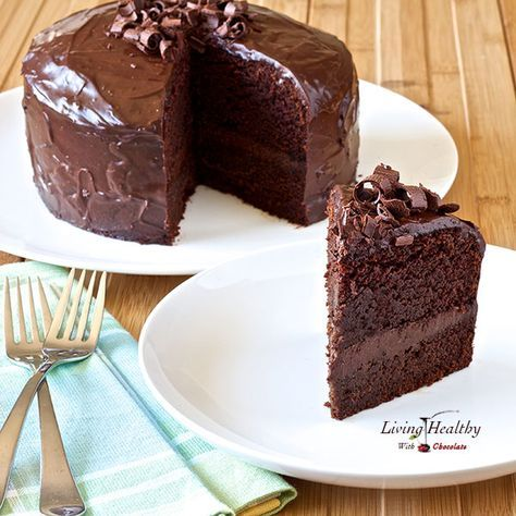 Paleo Chocolate Cake #LivingHealthyWithChocolate