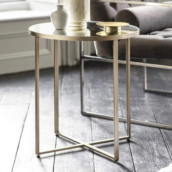 Antiqued Brush Silver Side Table Silver Side Table Glass Top Side Table Glass Side Tables