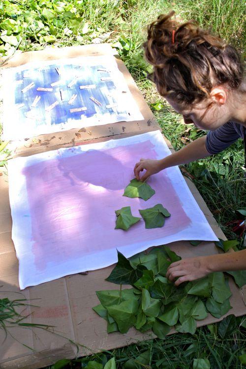 DIY: Sun Dye Bandanas. You've got to try this. Sun dye is awesome!