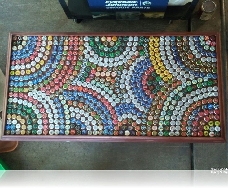 beer bottle cap art and crafts - Google Search