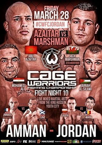 Cage Warriors Fight Night 10 Ergebnisse - Results & Video Abu Azaitar vs. Jack Marshman