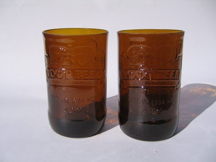 Ibc root beer recycled glass set of 2 1000 via etsy