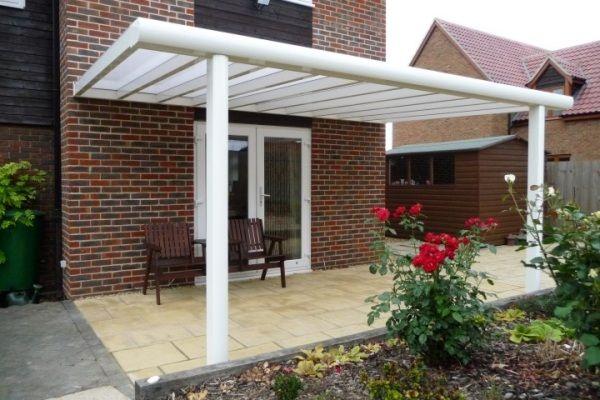 Dach Terrasse-Weiß Aluminium-Pfosten