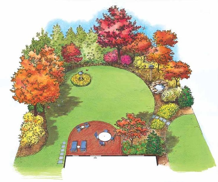 * I need to have the pavers on the bottom left leading from the driveway: Eplans Landscape Plan - Birds are Attracted to this Delightful Planting from Eplans - House Plan Code HWEPL11446