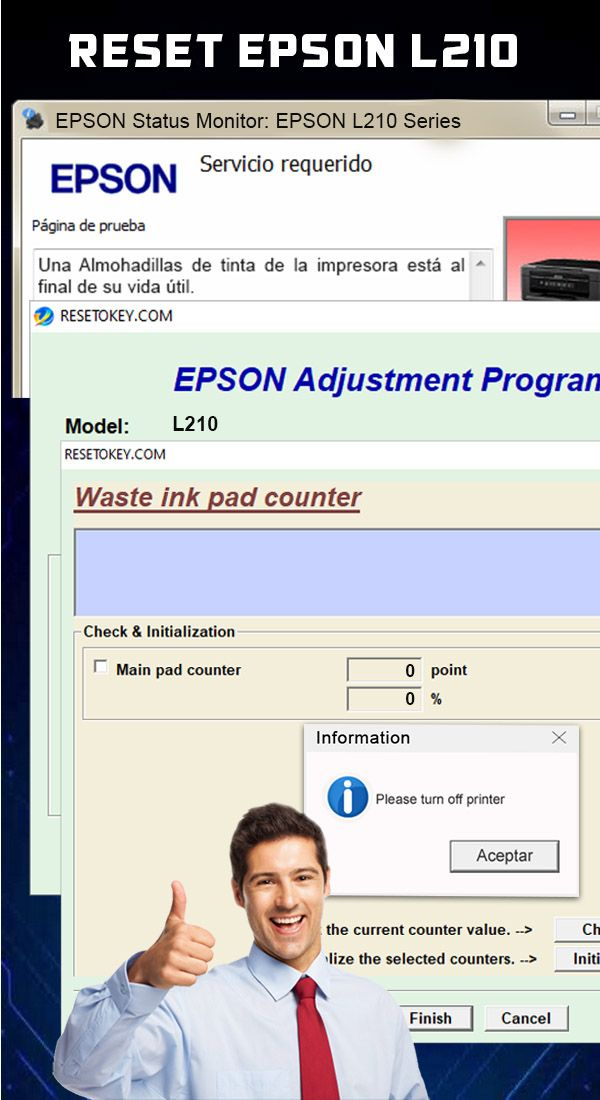 Download Reset Epson L210 : download, reset, epson, Reset, Almohadillas, EPSON, Messages,, Epson,, World