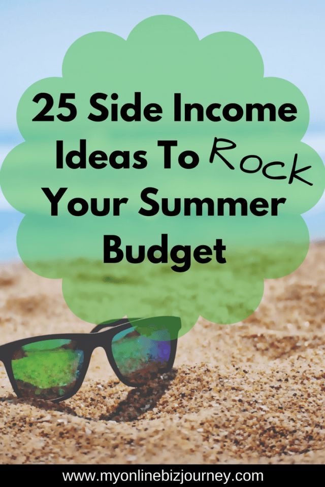 Don't let the lack of funds ruin your F.U.N this summer. Here are 25 side income ideas to aid that summer budget and put it on the right track