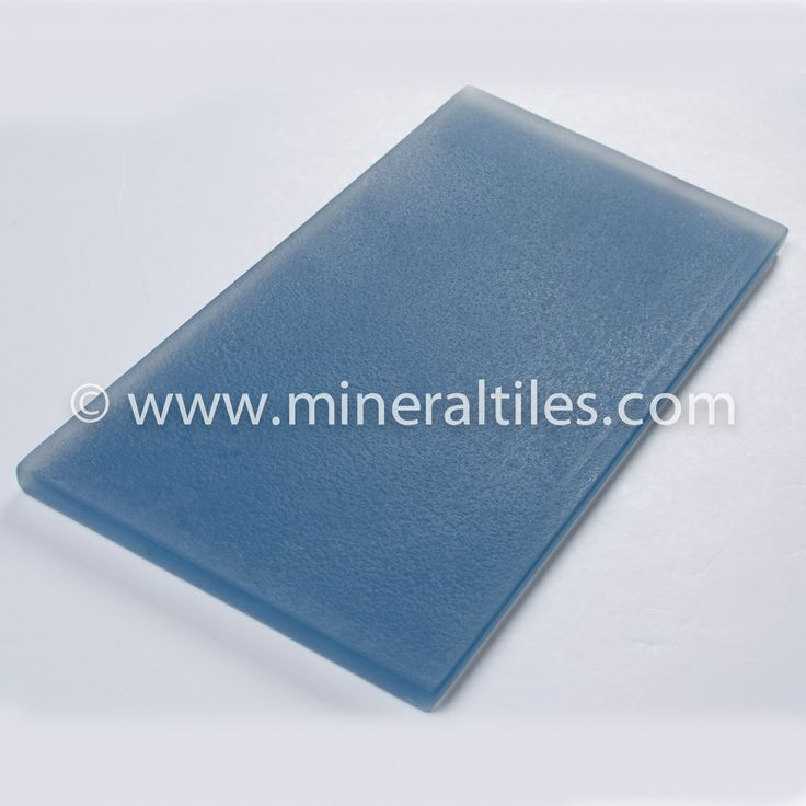 Ocean Glass Subway Tile Blue Frosted 4×8