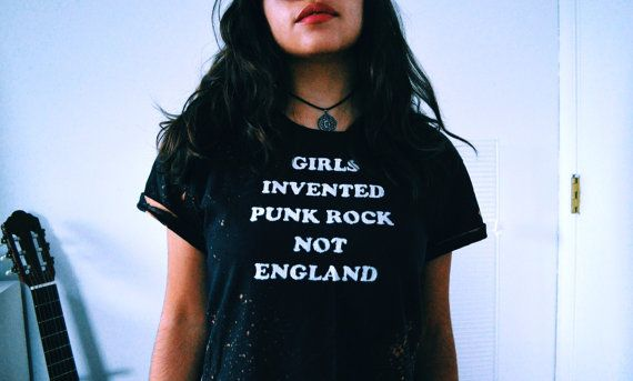 Girls Invented Punk Rock Not England Crop Grunge by ObscuredPunk