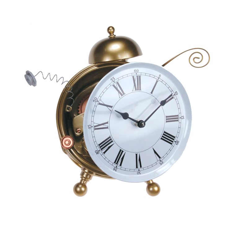 Articolo: 948ORO_Parent skuContrattempo is a shelf clock with a German UTS quartz clock mechanism. Hand painted. Made in Italy