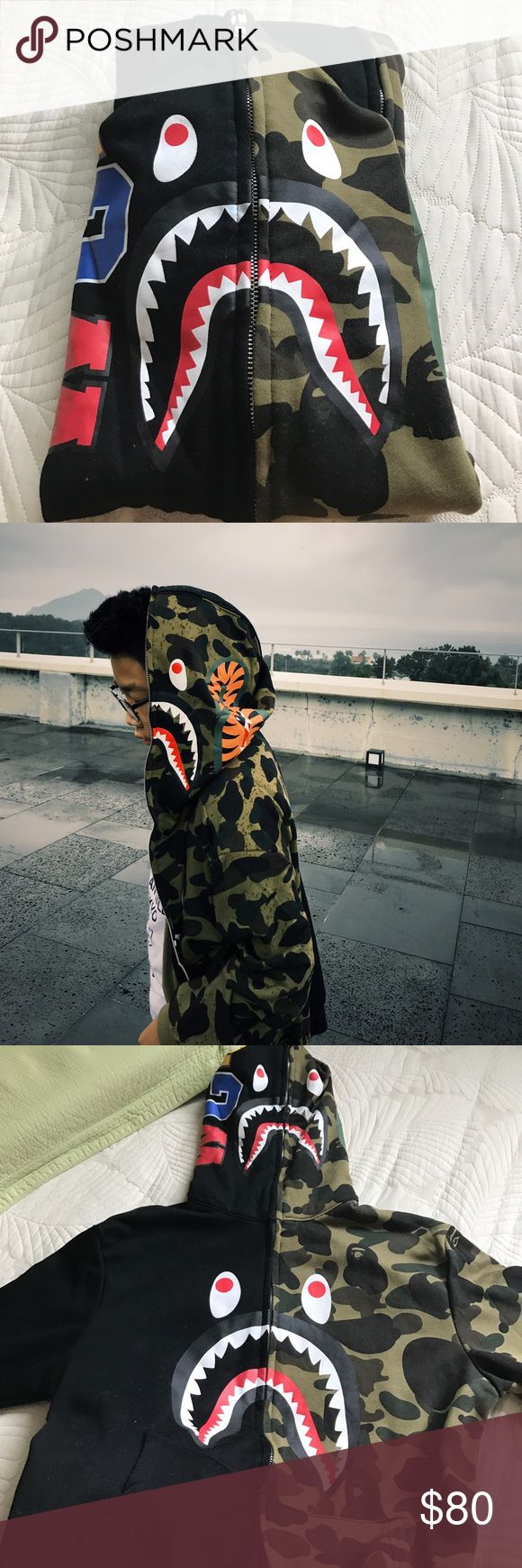 Selling this Replica BAPE shark hoodie 🦈 on Poshmark! My username is: iann_kim. #shopmycloset #poshmark #fashion #shopping #style #forsale #Bape #Other#cheapbape #replicabape