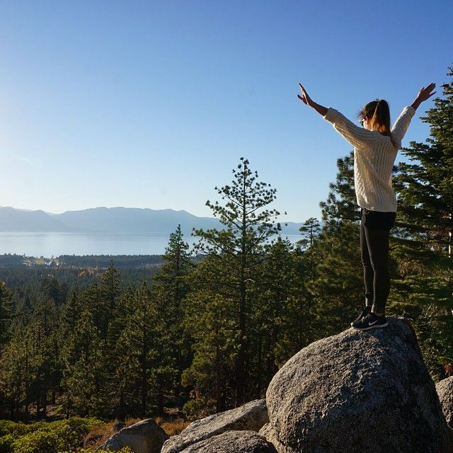 Top of the hill ✌️️#me #topofthehill #laketahoe #nature #beautiful #view #travel #weekend #nevada