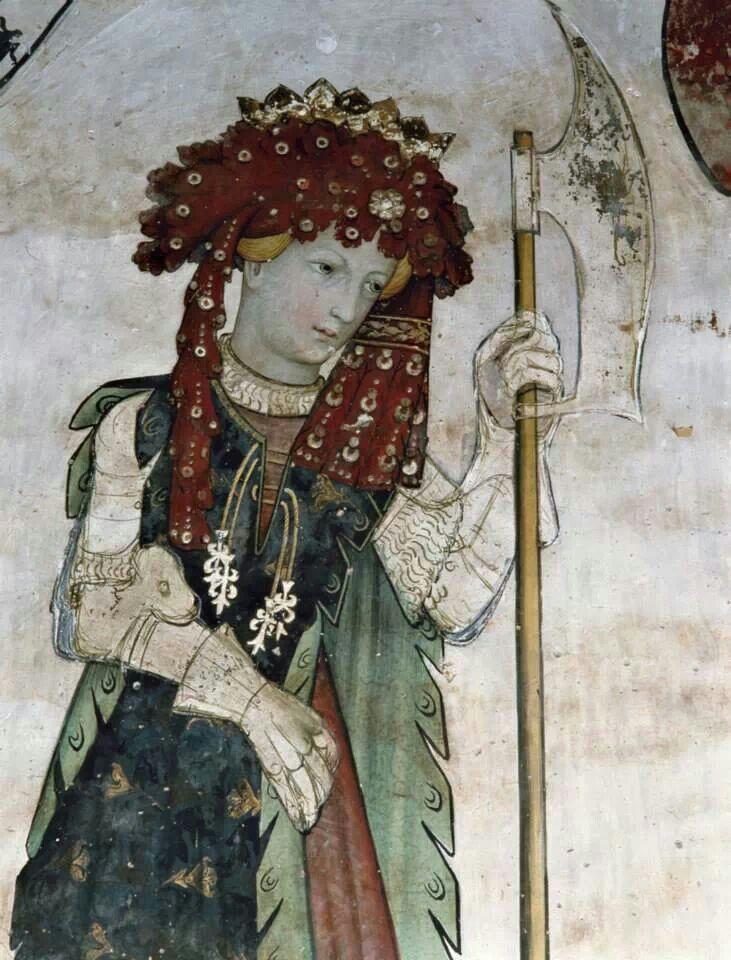 Maestro della Manta-Eroi ed eroine del ciclo del Castello della Manta-Cuneo-1420 circa