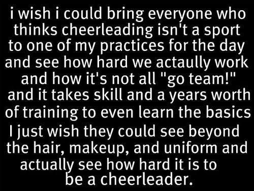 #wearejustaskingforrespect SERIOUSLEY people under estimate the endurance, hard work, determination, and skill level of cheerleading!