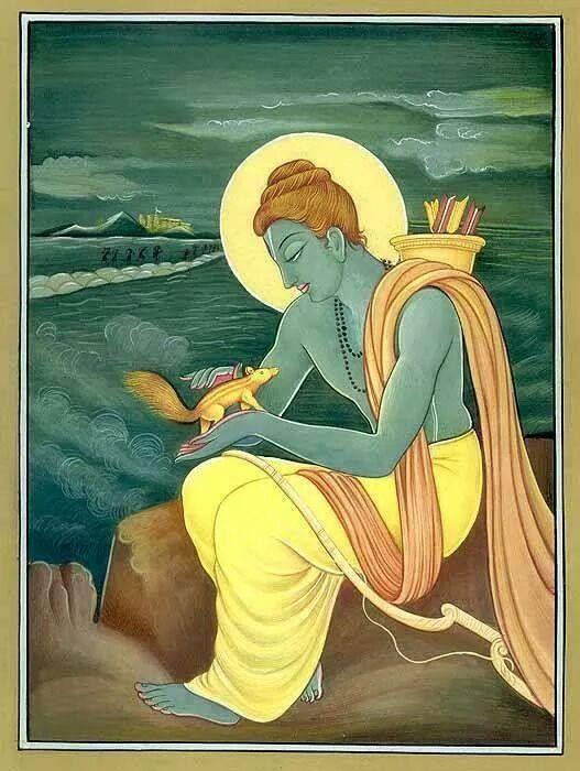 Ram during making of setu ( bridge)