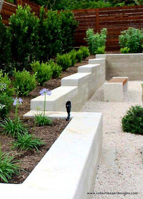 Modern-Landscape-Design-Concrete-Retaining-Wall.Jpg | Back Yard