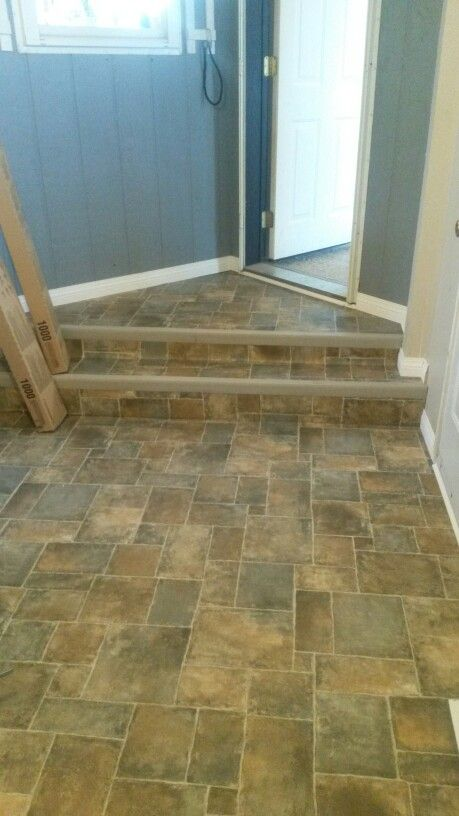 New Porch Flooring Durable Vynal In A Nice Pattern To