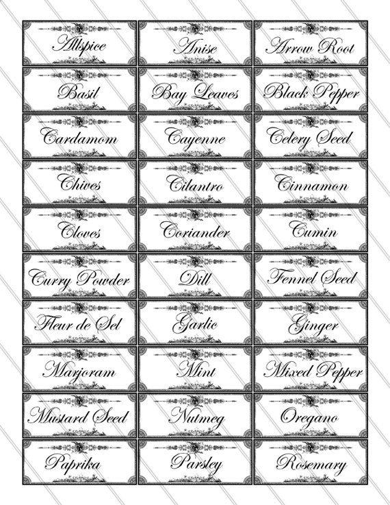 homework a creative blog inkling free printable spice labels