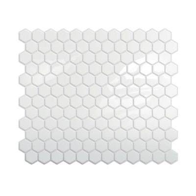 Peel and Stick Tile Sheets: I spotted these at Home Depot, and thought they looked interesting — especially the white subway and hex designs. You can install them over other tile and, when it's time to take them down, you aim a hairdryer in their direction, and the heat helps pry them off. There are tons of reviews over on the website, so read those first to see if they are right for you.