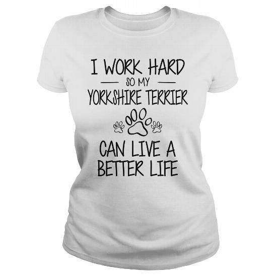 Awesome Yorkshire Terrier Lovers Tee Shirts Gift for you or your family your friend:  I love my Yorkshire Terrier Tee Shirts T-Shirts