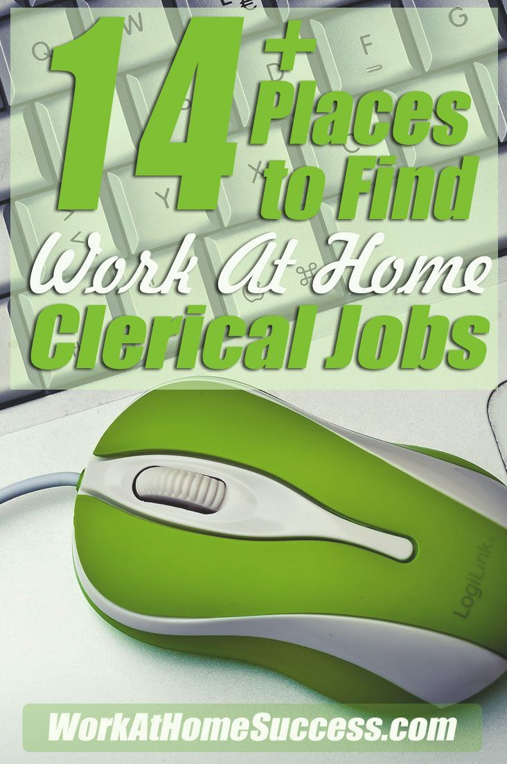 Learn about working at home doing clerical support, plus get a list of places that hire home based clerical support. http://www.workathomesuccess.com/14-places-to-find-work-at-home-clerical-jobs/?utm_campaign=coschedule&utm_source=pinterest&utm_medium=Leslie%20Truex&utm_content=14%2B%20Places%20to%20Find%20Work-At-Home%20Clerical%20Jobs