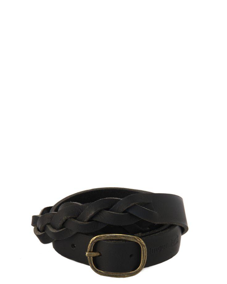 Vintage Braided Belt – B23 – Black | GoodiesHub.com