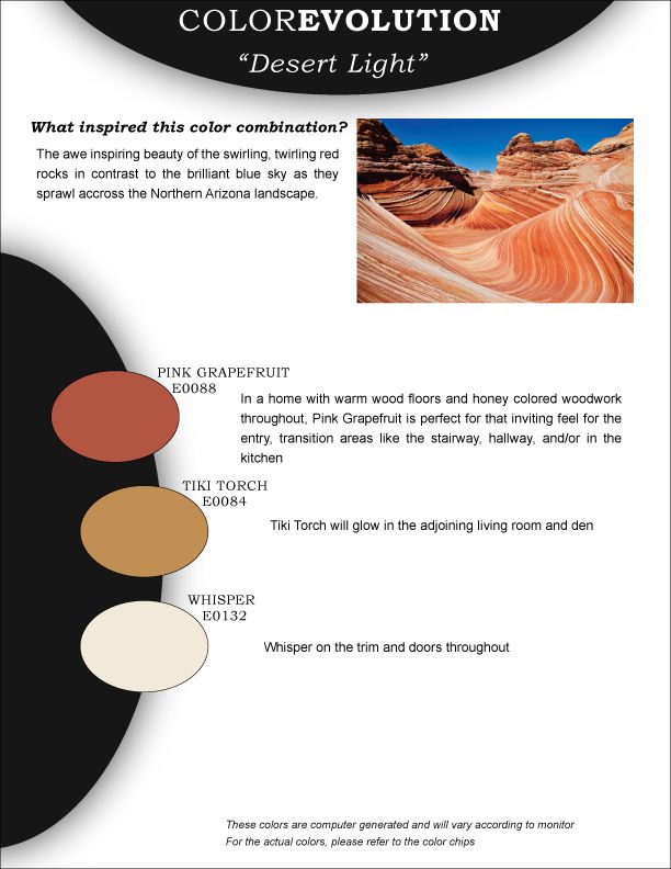 28 best in the garden of color images on pinterest color boards wrap yourself in these cozy colors from the colorevolution collection by miller paint desert fandeluxe Gallery