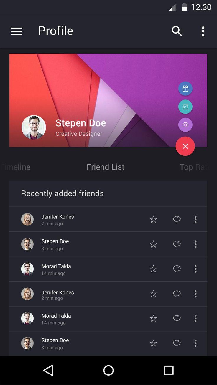 Profile friendlist