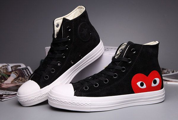 9abf914d7cc916  converse Fashion Converse Black Comme Des Garcons Suede Chuck Taylor All  Star High Tops Sneakers