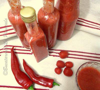 Biochimist La Cratita: Sos de rosii picant, raw (pentru iarna)