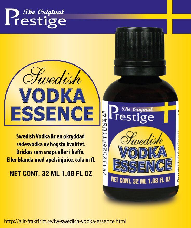 Swedish Vodka är en okryddad sädesvodka av högsta kvalitet. Drickes som snaps eller i kaffe. Eller blanda med apelsinjuice, cola m fl.
