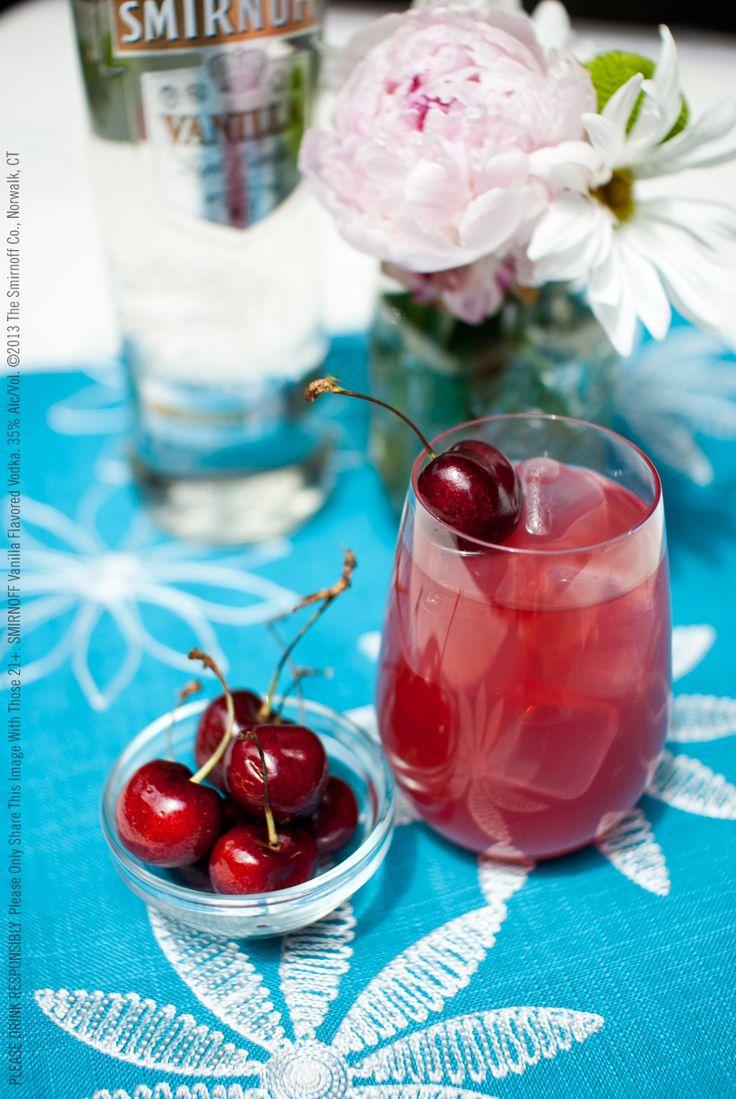 Cherry Vanilla Splash drink recipe with 1.5 oz SMIRNOFF® Vanilla ...