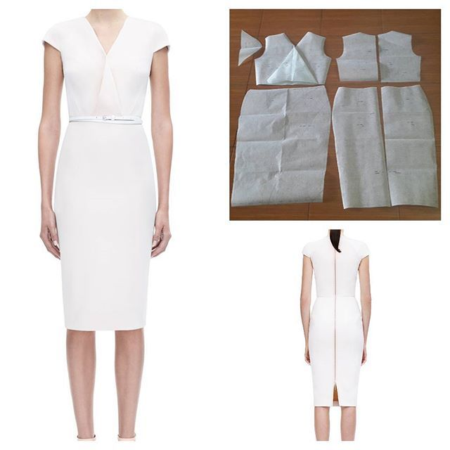 Basic dress pattern with combination on the front.  Order via line : @modelliste (with @) #dresspattern#modellistepattern#poladress#jualpola#jasapola#polaonline#jasapolaonline#polaonlineshop#polabaju#jualpoladress#jasapembuatanpola#poladress#pencildress#whitedress#polapencildress#polarok